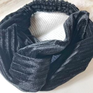 KNOT TURBAN VELVET HEAD BAND WRAP